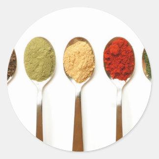 Spices Classic Round Sticker