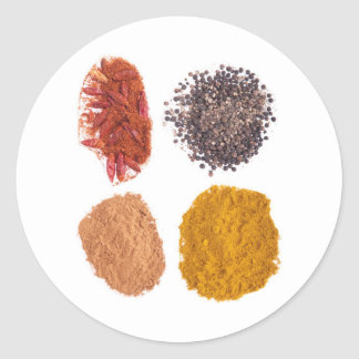 Spices collection classic round sticker