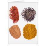 Spices collection greeting cards