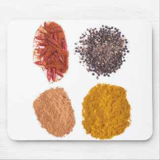 Spices collection mouse pad