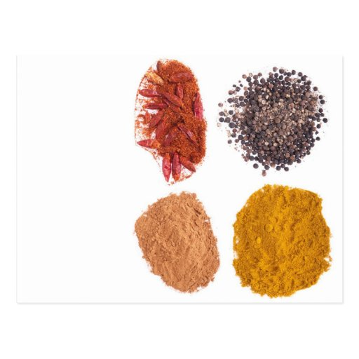 Spices collection postcard