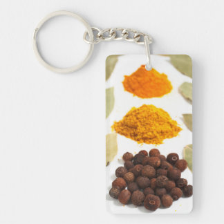 Spices Double-Sided Rectangular Acrylic Keychain