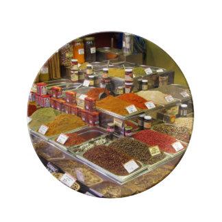 """""""Spices for Sale"""" Porcelain Plates"""