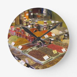 """""""Spices for Sale"""" Round Clock"""