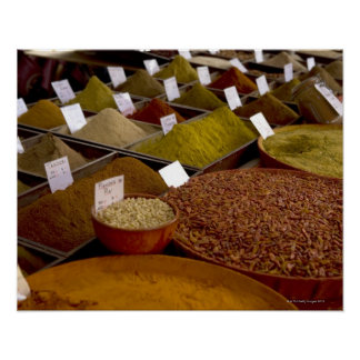 Spices in farmer's market poster