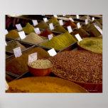 Spices in farmer's market print