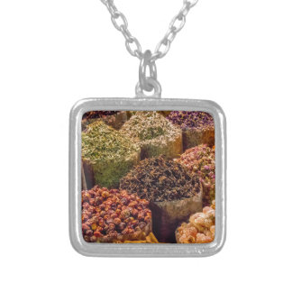 Spices of the middle east silver plated necklace
