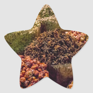 Spices of the middle east star sticker