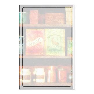 Spices on Shelf Stationery