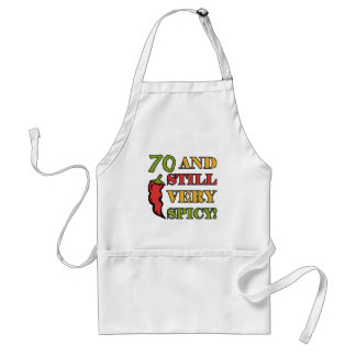 Spicy At 70 Years Old Aprons