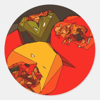 Spicy Bell Pepper Trio Classic Round Sticker