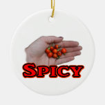 Spicy Cascabel Hot Pepper Design Christmas Tree Ornament
