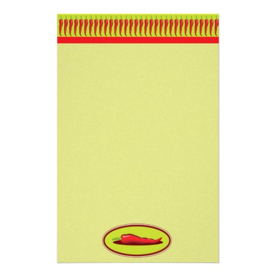 Spicy Chef Chili Pepper Stationery