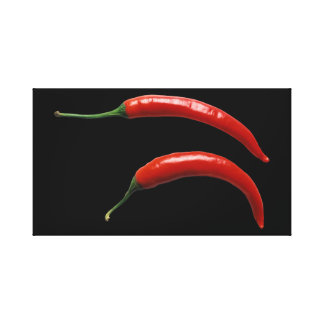 Spicy Chili Peppers Canvas Print