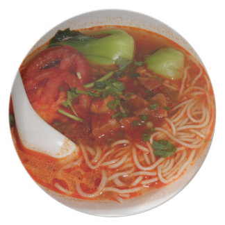 spicy chinese noodle dinner plates