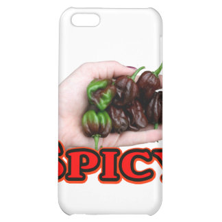 Spicy Chocolate habanero Hot Pepper Design iPhone 5C Cover