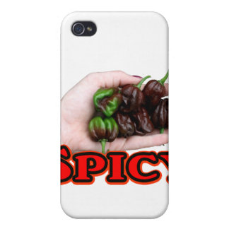 Spicy Chocolate habanero Hot Pepper Design Cover For iPhone 4