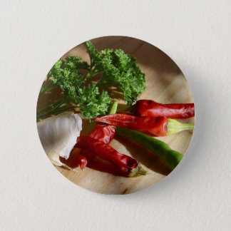 Spicy cuisine art button