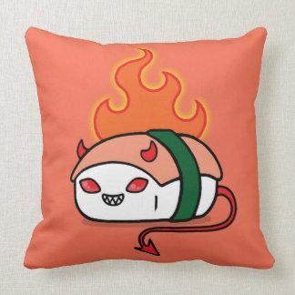 Spicy Devil Tuna Throw Pillow