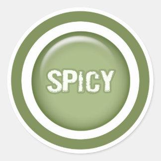 Spicy flavor circle sticker label