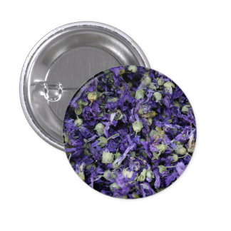 Spicy Floral Photo from Dubai [Purple Pattern 1] Pinback Button