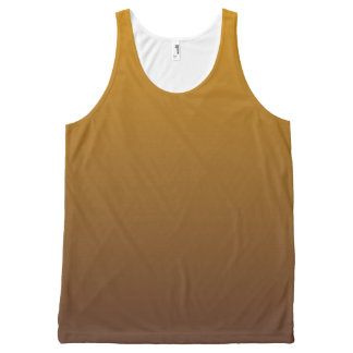 Spicy Gold Brown Ombre All-Over Print Tank Top