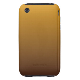 Spicy Gold Brown Ombre Tough iPhone 3 Cover