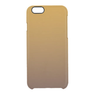 Spicy Gold Brown Ombre Clear iPhone 6/6S Case