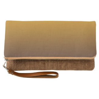 Spicy Gold Brown Ombre Clutch