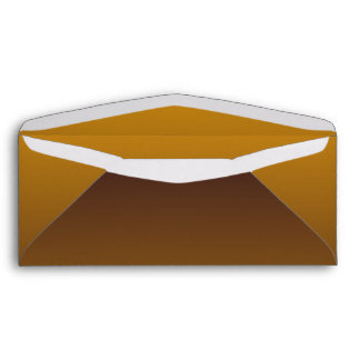Spicy Gold Brown Ombre Envelope