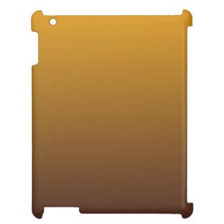 Spicy Gold Brown Ombre iPad Cover