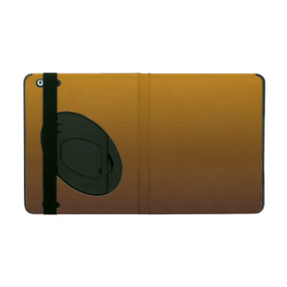 Spicy Gold Brown Ombre iPad Folio Case
