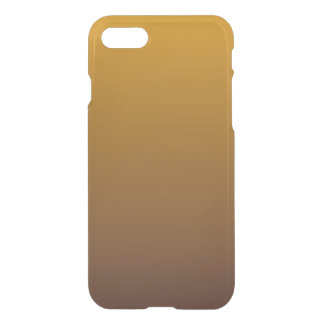 Spicy Gold Brown Ombre iPhone 7 Case