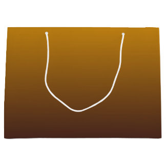 Spicy Gold Brown Ombre Large Gift Bag