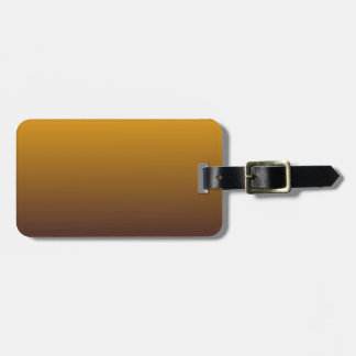 Spicy Gold Brown Ombre Luggage Tag