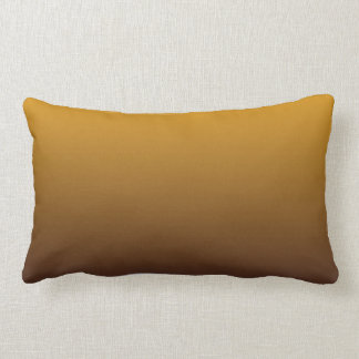 Spicy Gold Brown Ombre Lumbar Pillow