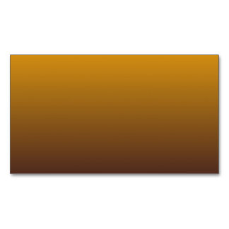 Spicy Gold Brown Ombre Magnetic Business Card