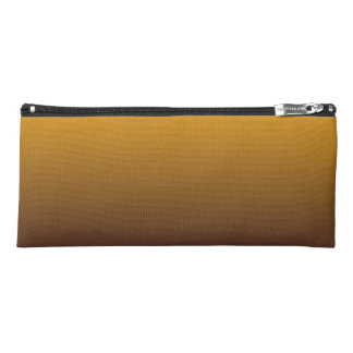 Spicy Gold Brown Ombre Pencil Case
