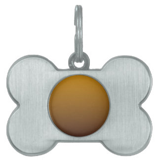 Spicy Gold Brown Ombre Pet Tag