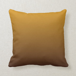 Spicy Gold Brown Ombre Throw Pillow