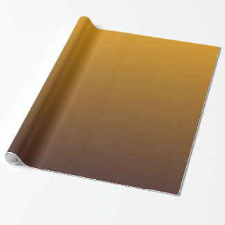 Spicy Gold Brown Ombre Wrapping Paper