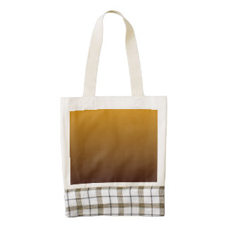Spicy Gold Brown Ombre Zazzle HEART Tote Bag