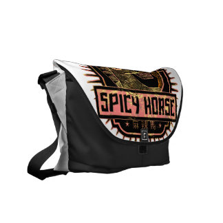 Spicy Horse Messenger Bag - Dark