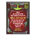 SPICY HOT CHILI PEPPER Party Invitation Invite