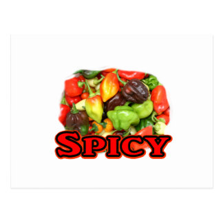 Spicy ! Hot habanero Pepper Pile Pepper Lover Gift Postcard