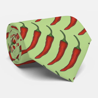Spicy Hot Red Chili Chile Pepper Peppers Tie
