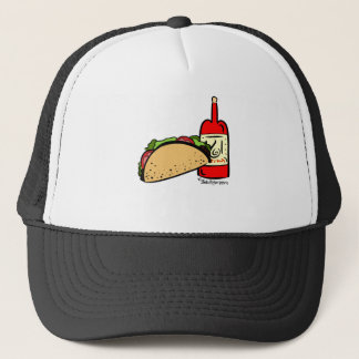 Spicy Hot Sauce Taco Tuesday Mesh Trucker Hat