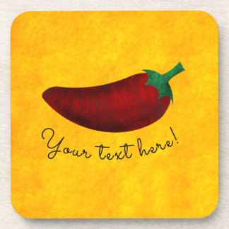 Spicy Hot Southwest Chili Pepper Pattern Drink Coaster