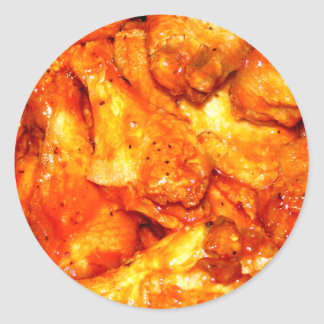 Spicy Hot Wings Classic Round Sticker
