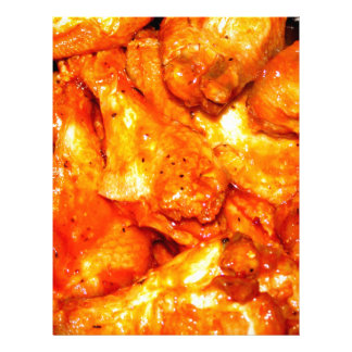 Spicy Hot Wings Customized Letterhead